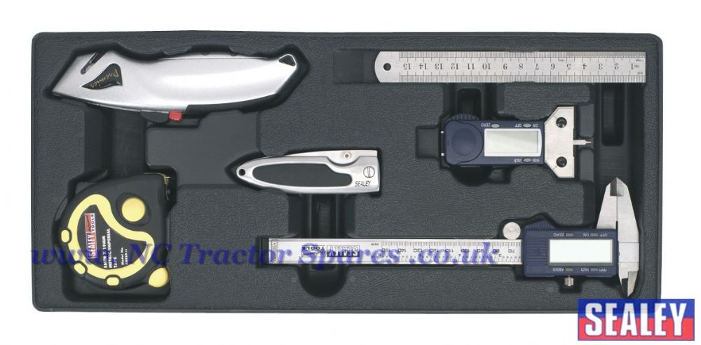 Tool Tray with Measuring & Cutting Set 6pc